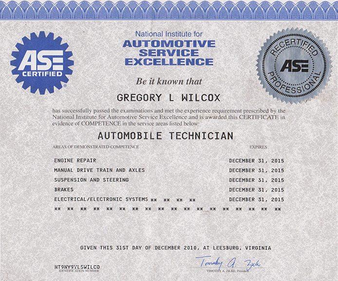 I Car Certification >> Certification - European Car Service Experts - BMW